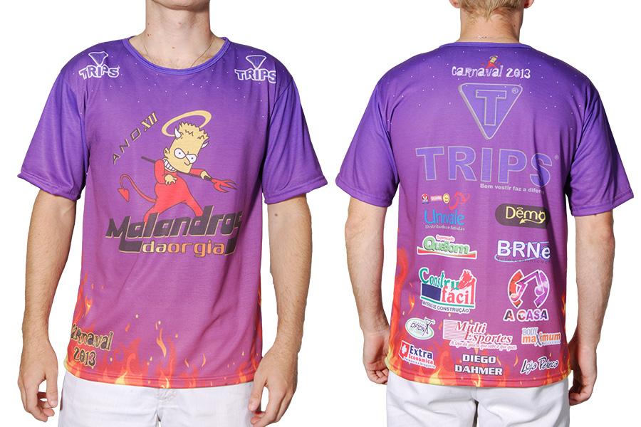 Camiseta Carnaval 2013 Malandros da Orgia