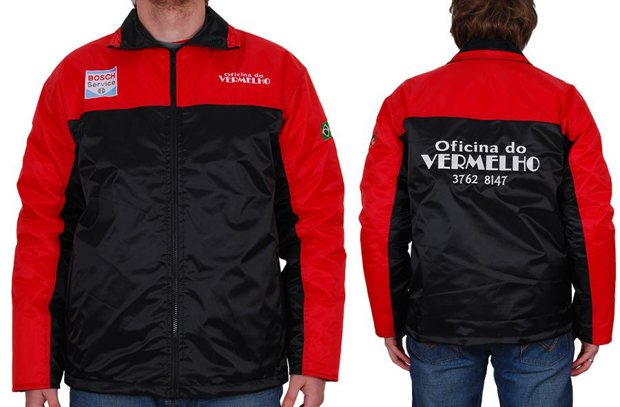 Jaqueta forrada personalizada Oficina do Vermelho.