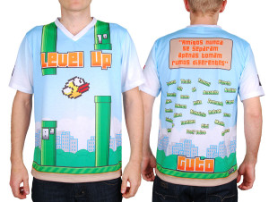 Camiseta personalizada do Flappy Bird.