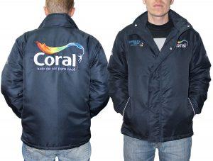 Jaquetas forradas personalizadas com bordados