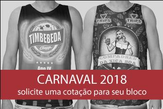 camisetas e abadas para Carnaval 2018